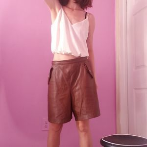 Vintage Leather Boxing Shorts-Size S